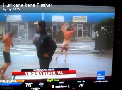 Hurricane Irene 2011: Weather Channel Streaker Disrupts Coverage (VIDEO)
