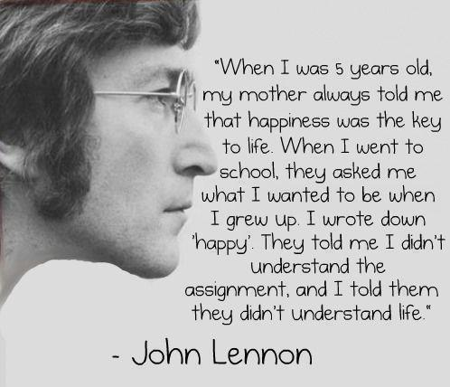 Lennon on happiness